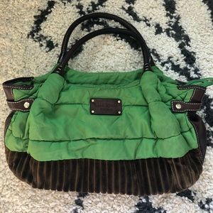 Kate Spade New York purse - green and brown